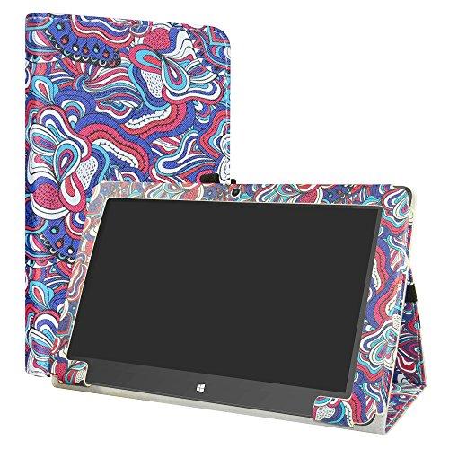 Diseño específico para TrekStor SurfTab twin 11.6 Windows 10 Tablet PC. TLa buena calidad de PU cuero impulsa un aspecto elegante. Conveniente stand posición para ver la película o escribir.Cierre magnético que mantiene la funda cerrada.Con Stylus Pe...