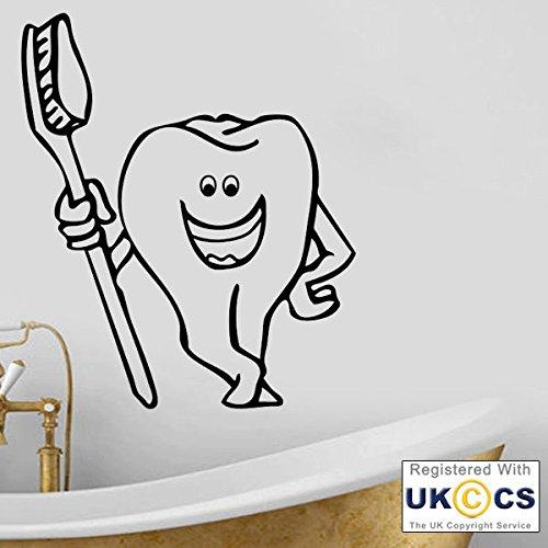 Cepillo de dientes de Baño de los del dentista Wall Stickers Arte calcomaníaas de vinilo Inicio...