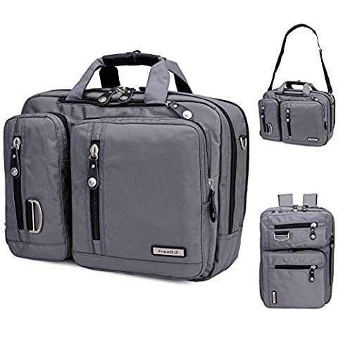 FreeBiz Sac à dos double épaule pour Laptop Portable de 15 17 pouces, Sac porte-documents en Nylon