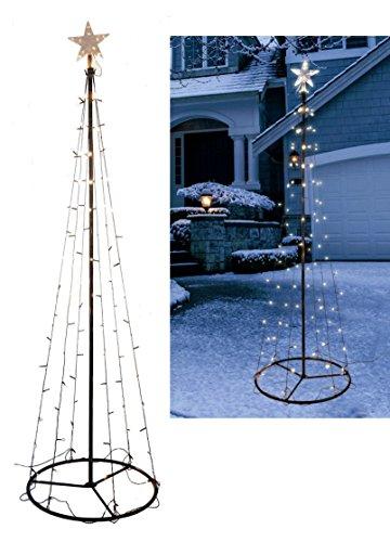 Beleuchteter LED Weihnachstbaum in Kegel Form - Höhe 240 cm / 140 Lichter warmweiß - Deko Baum Tannenbaum Außen