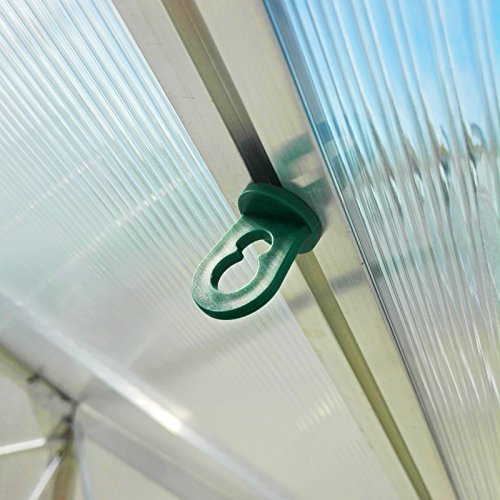 20x Gewächshausclips - Ösen Aufhänger Pflanzenhalter Aufhängevorrichtungen für Gewächshaus, Perfekte Rankhilfe Clips für ihr Paradies