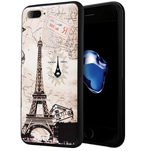 iPhone 7 Plus Coque, WindCase Motif Vivant en 3D Design TPU Case Anti Résistant Étui Housse Protection pour iPhone 7 Plus 5.5-pouce -XY03 XY07