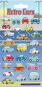 Proyectos de Papel Retro Cars para niños Craft Stickers