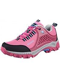 Ben Sports Zapatillas de senderismo Botas de senderismo Correr en montaña Rosado para Mujer