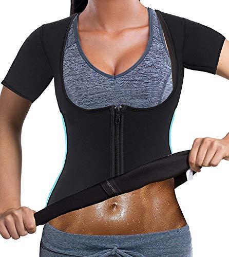 2f7619fdd82 Bafully Women Neoprene Sauna Suit Waist Trainer for Weight Loss Tummy  Control Sport Workout Corset Hot