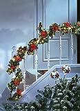 SSITG Leuchtende Weihnachtsgirlande Tannengirlande Girlande Weihnachten Deko