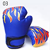 ROKOO Kinder Erwachsene Boxhandschuhe PU Leder Sparring Kickboxing Trainingshandschuhe