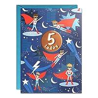 James Ellis - Age 5 Super Hero Birthday Card - HC3145