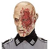 Antifaz de látex general Careta zombie soldado Mascarilla terrorífica guerrero Accesorio Halloween disfraz ejército Máscara muerto viviente Cubre rostro terror militar