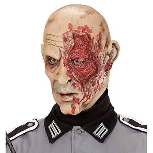 Antifaz de látex general Careta zombie soldado Mascarilla terrorífic