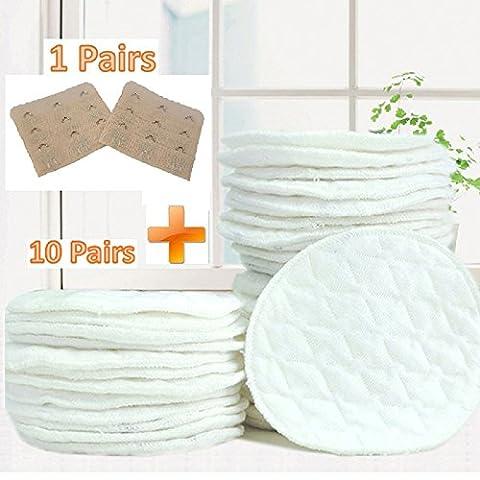 Dikete® lavable Coussinets d'allaitement réutilisables poitrine Pad Soutien-gorge Coussinets Ultra doux hypoallergénique absorbant allaitement Pad