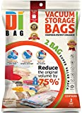 DIBAG ® 2 VACUUM COMPRESSED STORAGE SAVING SPACE BAGS 180 X 110 cm. Ideal For Storage Clothing, Duvets, Bedding, Pillows, Curtains .