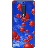 Es regnet Cricketbälle Hartschalenhülle Telefonhülle zum Aufstecken für Nokia 5