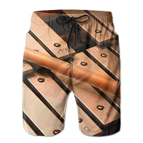 ZHIZIQIU Men's Shorts Pockets Swim Beach Trunk Summer Xylophone Casual - XXL