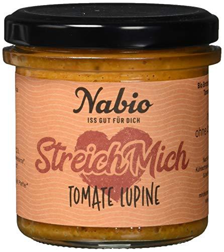 Nabio Tomate Lupine - Bio Brot-Aufstrich mit Lupine - vegan, 6er Pack (6 x 140 g)