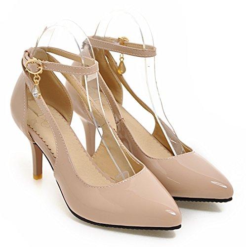 YE , Bride cheville femme Beige (7cm heels)