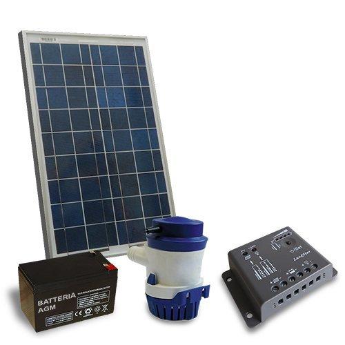 Kit Solare Irrigazione 24 l/m 12V Pannello