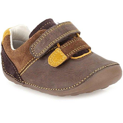 Clarks Boy's Brown First Walking Shoes - 2 kids UK/India (17.5 EU)