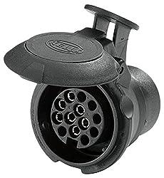 HELLA 8JA 008 969-011 Adapter für Steckdose, 57 mm Länge, von 7 auf 13 -polig, bei 12 V Belastung 16 A