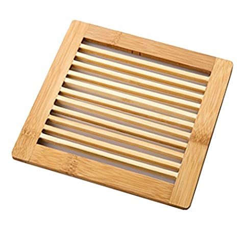 Moolecole Bamboo Trivet Durable Insulation Pad Bamboo Protects Tabletops And Counters Scald Proof Pad