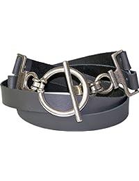 Fronhofer Ceinture pour femme ceinture de hanches ceinture en cuir  véritable d environ 6 cm ca8ac56ead1