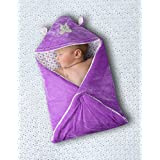 Cutieco All Season Use 3 in 1 Premium Baby Wrapper, Purple
