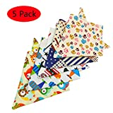 WeiLi Dog Bandana Triangle Bibs Foulards Accessoires Serviette Serviette De Salive Pour Animaux (5 Pack)