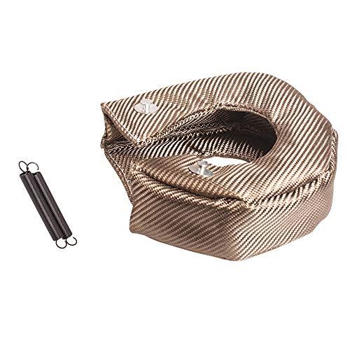 GSRECY Titan Lava Faser Turbo Decke Hochtemperatur Hitzeschild Barriere Turbolader Abdeckung Wrap (T3) -