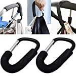 2 Pack Pushchair Hook Clip Large Buggy Pram Shopping Bag Strong Mummy Carry Carabiner