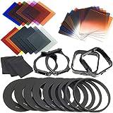 24 Stück volle Filter und Verlaufsfilter + 9 Adapterringhalter Objektiv Kappe für Cokin LF141 - 4