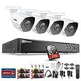 ANNKE 3MP Überwachungskamera Set, 4CH 3MP DVR Recorder+ 4x3MP Bullet Überwachungskameras mit 2TB Festplatte, Videoüberwachung Set mit HDMI/VGA Ausgang, Bewegungserkennung mit Alarmierung, P2P-Fernzugriff