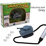 Magic Mini Pen Inductive Toy Car Truck Tank Follow Any Black Line You Draw Best Gift For Kids And Children Battery Included (Gray)