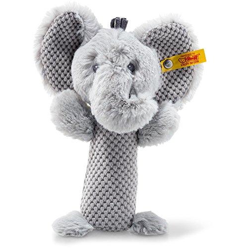 Steiff 240768 Soft Cuddly Friends Ellie Elefant Rassel Plüsch grau 15 CM
