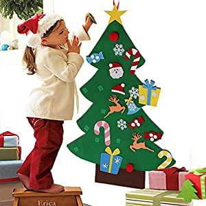Aytai DIY Felt Christmas Tree Set with Ornaments for Kids ...