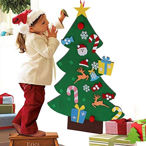 Aytai DIY árbol de Navidad de fieltro con adornos para los niños Regalos de Navidad de Año Nuevo pared de la puerta decoraciones colgantes