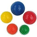 BB Sport Massageball Set 5er Igelbälle in verschiedenen Härtegraden und Größen Massagebälle mit Noppen
