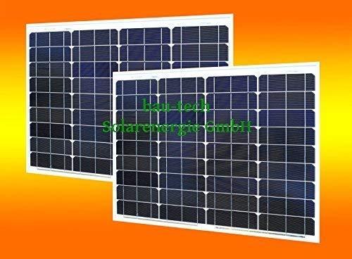 bau-tech Solarenergie 2 Stück 50 Watt Solarmodul Solarpanel Photovoltaik Solarzelle monokristallin GmbH