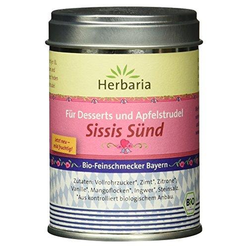 "Herbaria ""Sissis Sünd"" Apfelstrudel  Gewürzmischung, 1er Pack (1 x 100 g Dose) - Bio"