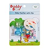 #1: Buddyboo Baby Pacifier with clip (Blue)