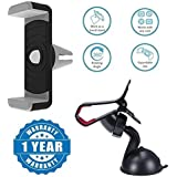 Drumstone Car Air Vent Universal Mount Holder Stand With 360 Degree Rotating Car Windshield Holder Stand For Mobile Phone Compatible With Xiaomi, Lenovo, Apple, Samsung, Sony, Oppo, Gionee, Vivo Smartphones (One Year Warranty)