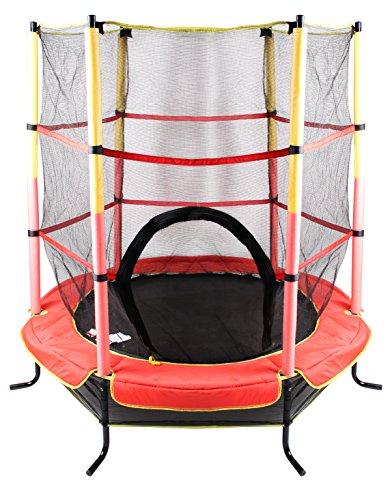 Total Sport Kinder 140cm 4,5ft Trampolin, Rot, M