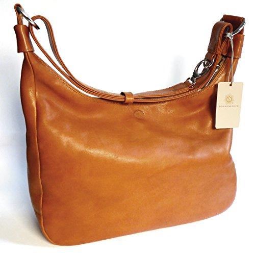 Sonnenleder sac à main de haute qualité-couleur :  mocca vALENCIA, doublure :  écru en cuir **véritable Natur / Futter Ecru