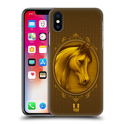 Head Case Designs Hipster Lanno Del Cavallo Cover Retro Rigida per Apple iPhone X Regale