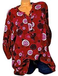 Domorebest Mujer Camiseta con Estampado de Lunares Casual