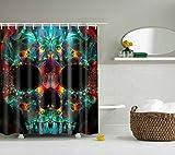 Zhizhen Duschvorhang wasserdicht und mildewproof Digital bedruckt Bad Vorhänge Badezimmer Zubehör, 038, 120*180cm