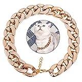 Legendog Hundehalsband, Pet Kettenhalsband Mode Cool Plastic Pet Kette Halskette für Katzenhund