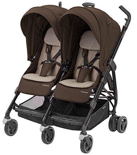 Maxi-Cosi Dana für 2 - kompakter Geschwisterwagen und Zwillingskinderwagen, Zwillingsbuggy, earth brown