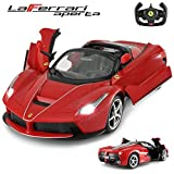 RASTAR La Ferrari Remote Control Car, 1:24 Ferrari RC Car for Kids, Red Toy Car - Great Toy For Boys Girls