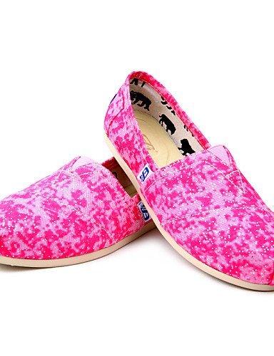 ShangYi gyht Scarpe Donna-Mocassini-Tempo libero-Comoda-Piatto-Di corda-Rosa Pink