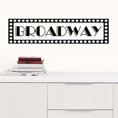 Zitat Wand Aufkleber Aufkleber Kinderzimmer Vinyl Sagen Schriftzug Wall Art Inspirierende Decor JARRARD Broadway New York Zeichen für Wohnzimmer 10.6